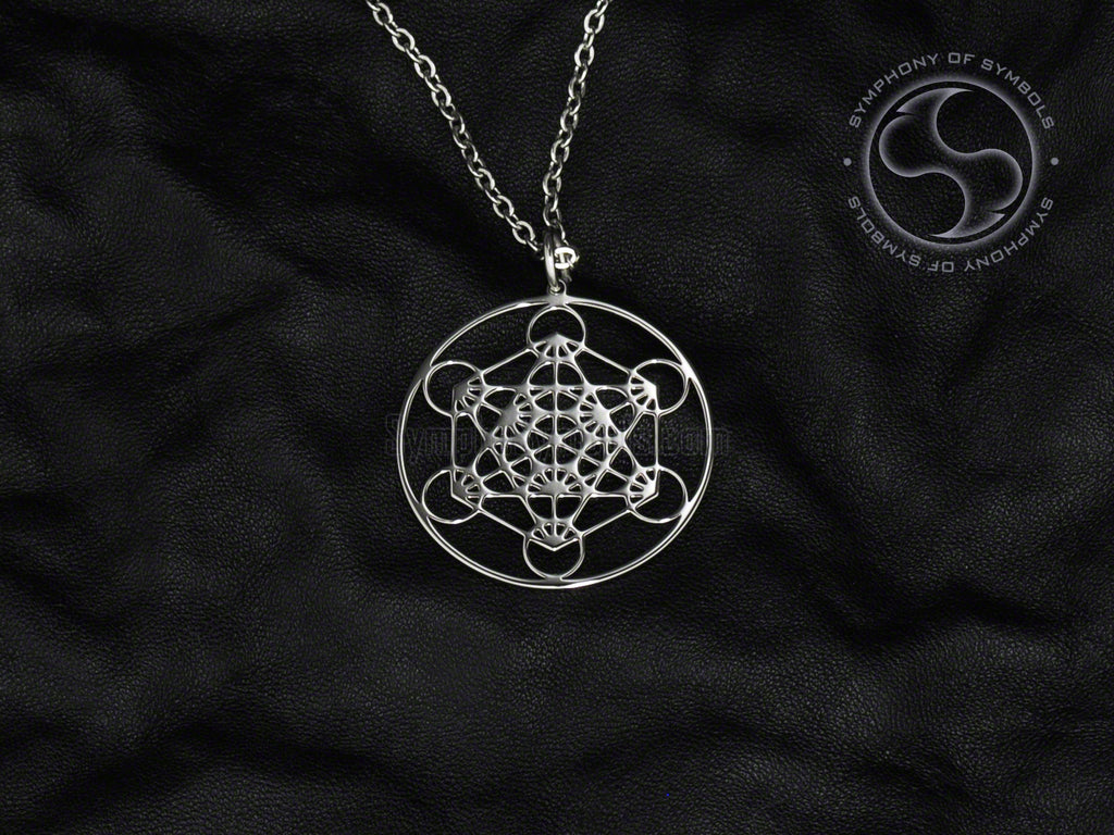 Metatron's Cube Symbol Pendant Stainless Steel Esoteric Jewelry