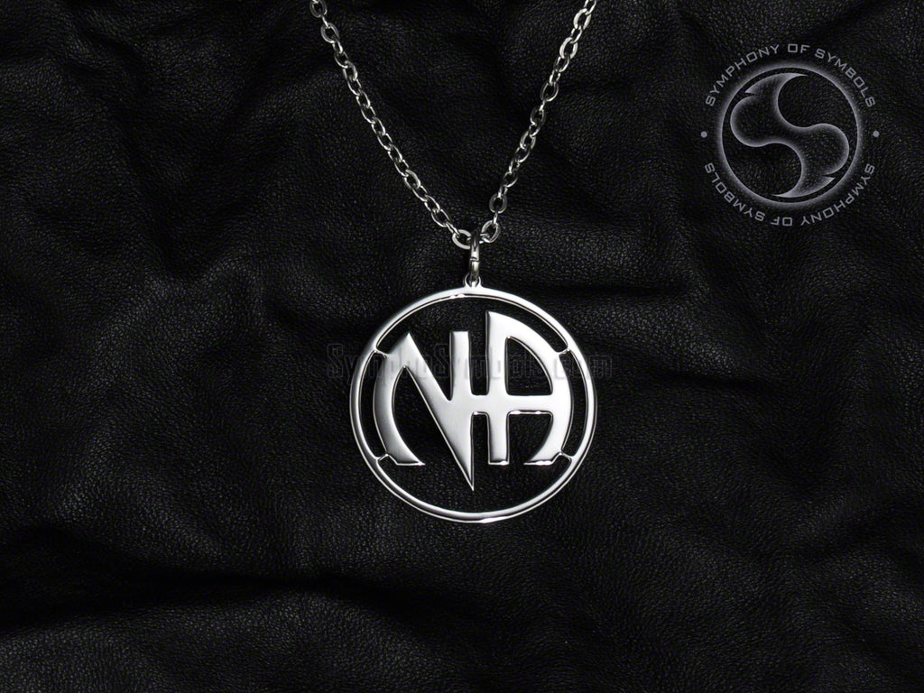 Stainless Steel Necklace with Narcotics Anonymous Symbol