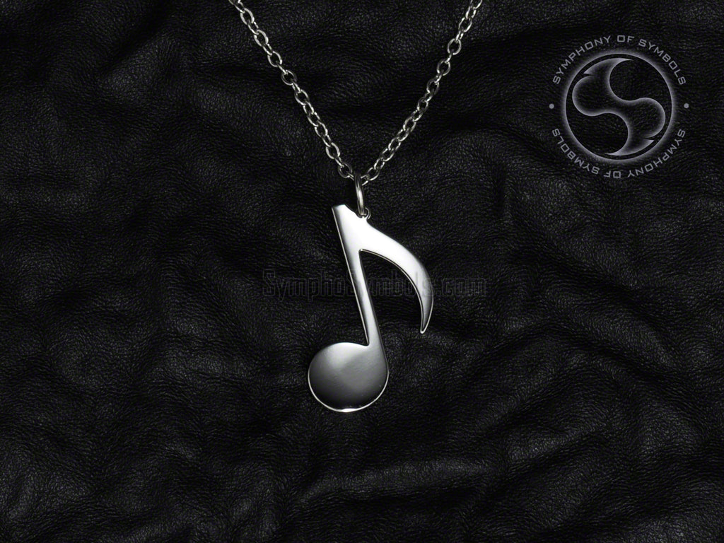 Stainless Steel Necklace with Musical Note Symbol
