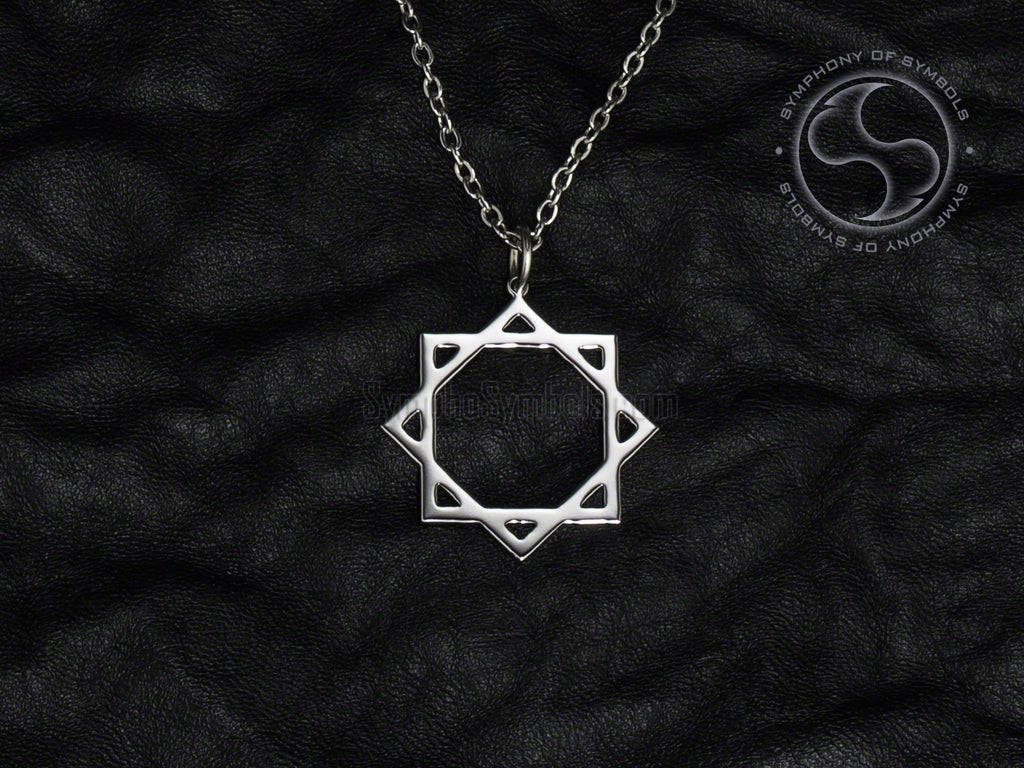 Stainless Steel Necklace with Octagram Symbol