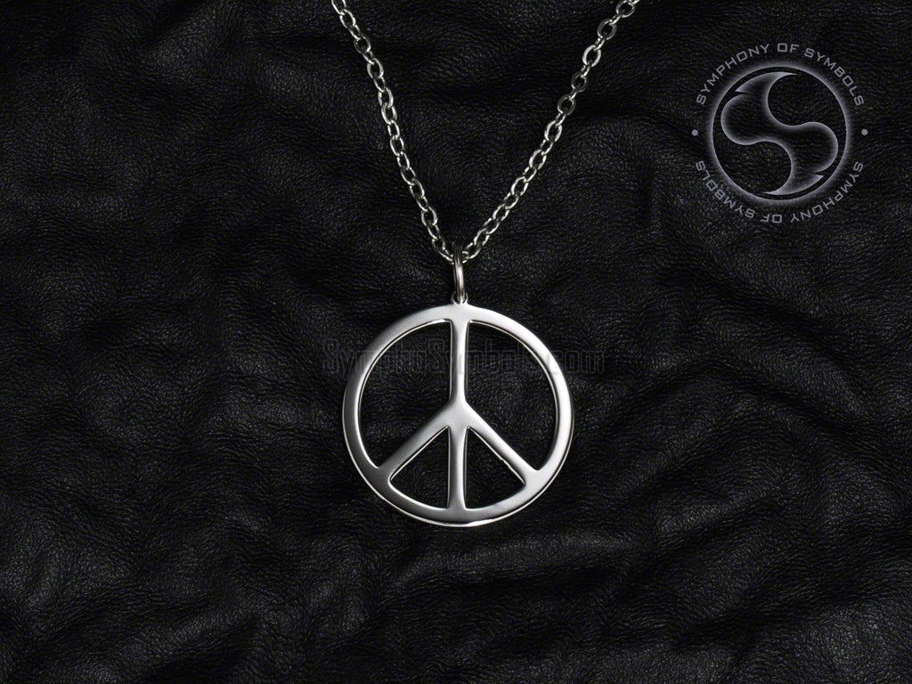 Stainless Steel Necklace with Pacific Peace Symbol