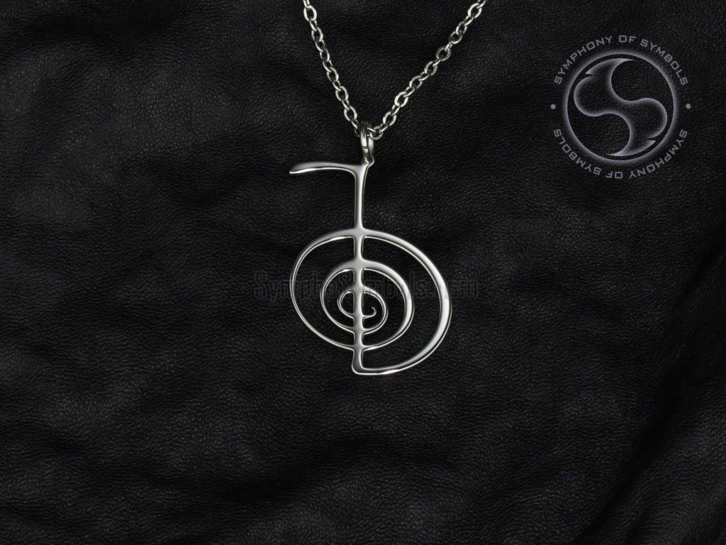 Stainless Steel Necklace with Esoteric Reiki Cho Ku Rei Symbol