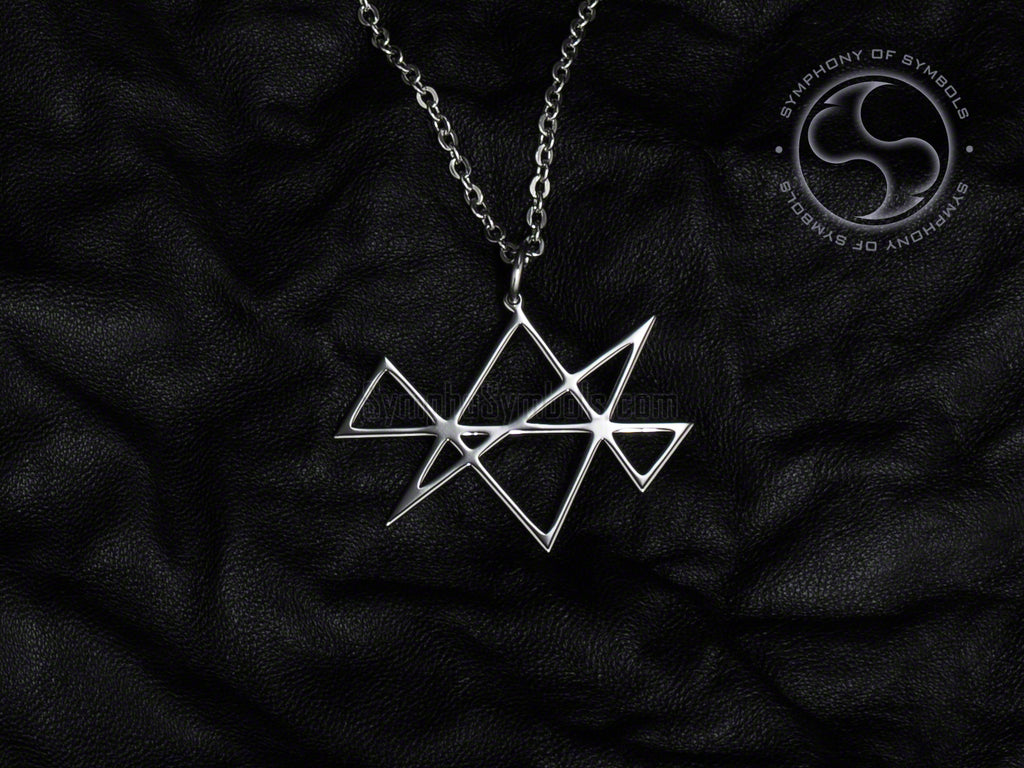 Stainless Steel Necklace with Reiki Midas Star Symbol