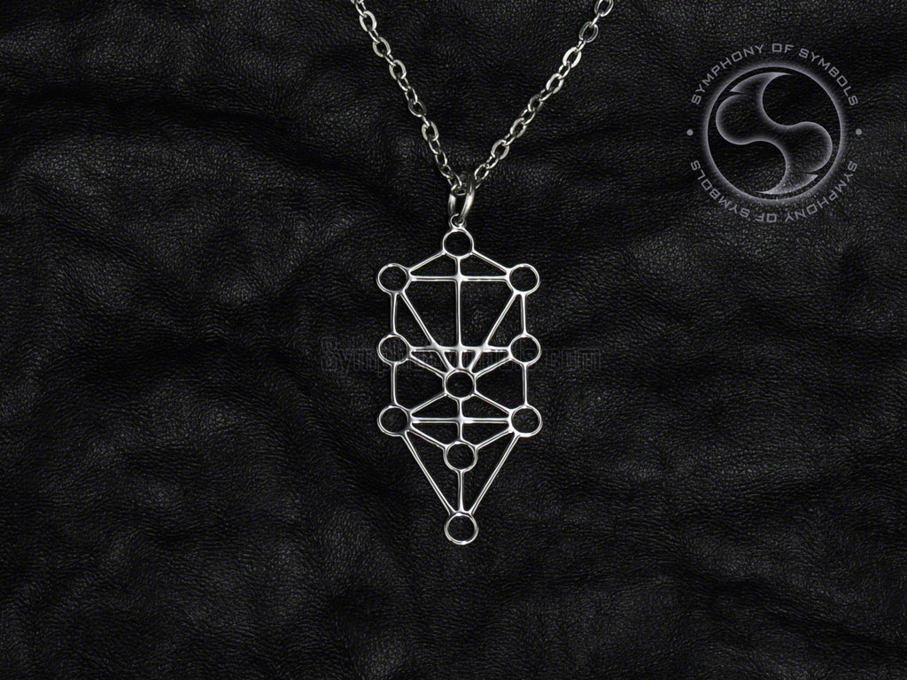 Stainless Steel Necklace with Kabbalah Sephiroth Symbol