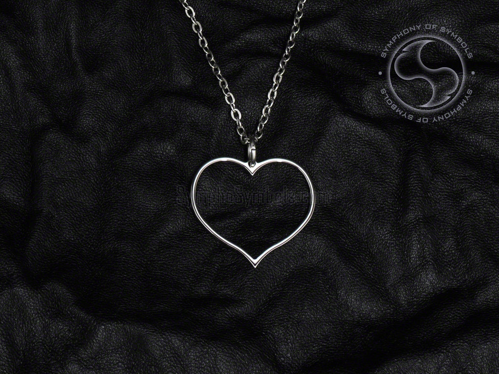 Stainless Steel Necklace with Heart Symbol