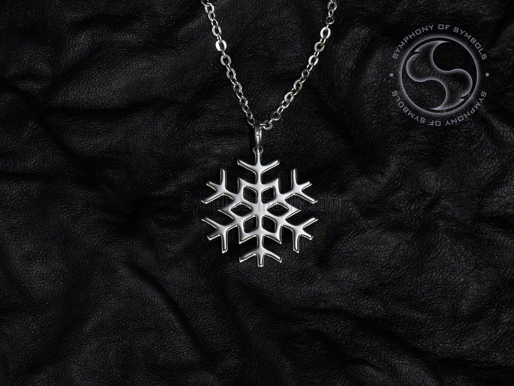 Stainless Steel Necklace with Snowflake Symbol