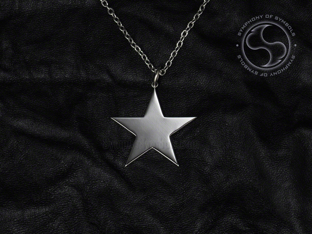 Stainless Steel Necklace with Star Symbol
