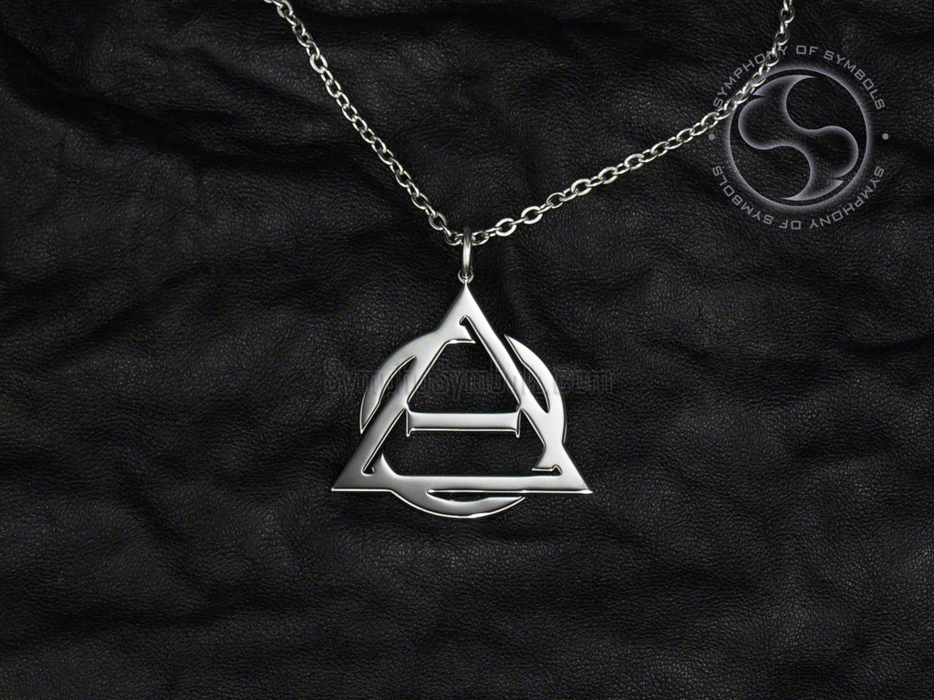 Stainless Steel Necklace with Otherkin Therian Symbol