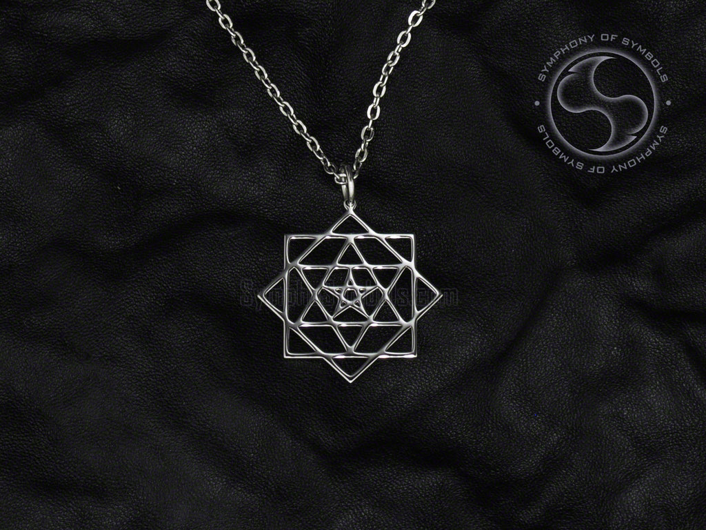 Stainless Steel Necklace with Judaic Tikun Hava Symbol