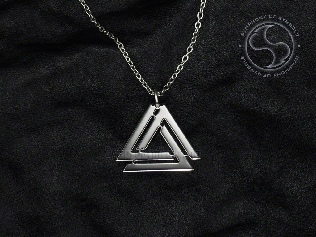 Stainless Steel Valknut Necklace Jewelry
