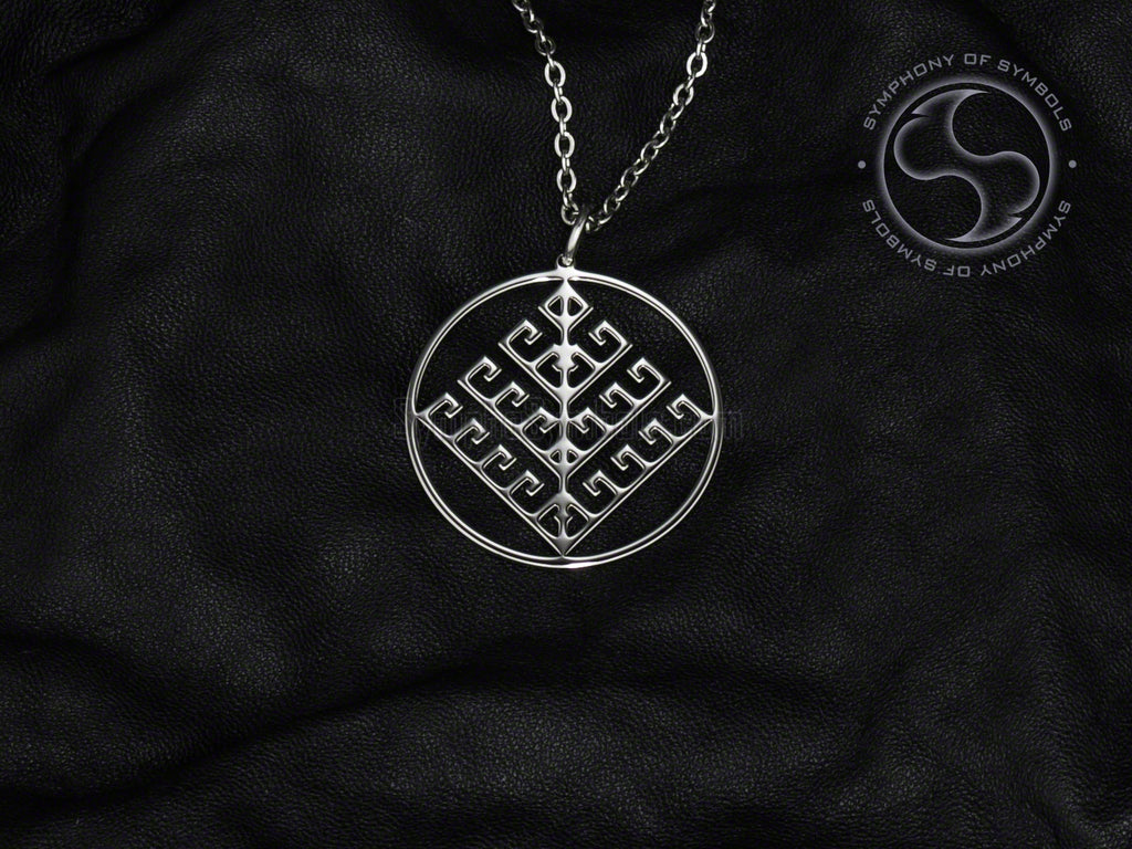 Stainless Steel Necklace with Viking Yggdrasil Symbol