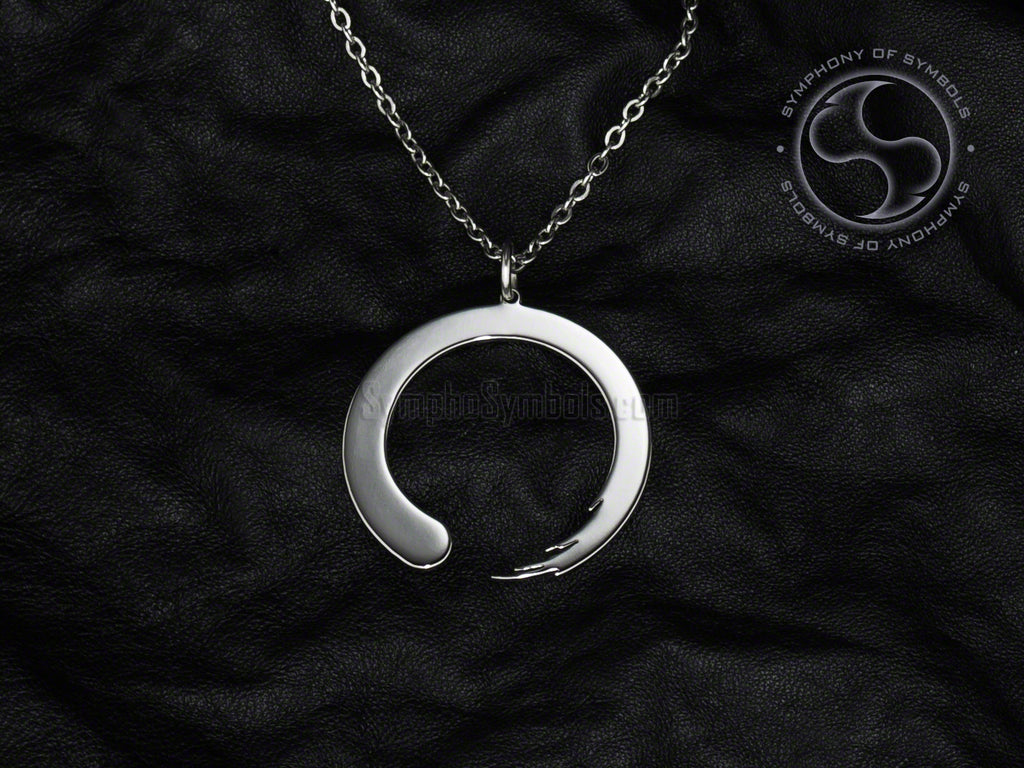 Stainless Steel Necklace with Buddhist Zen Symbol