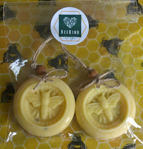 Beeswax Air Freshener - Bergamot, Lavendar and Patchouli (Bag of 2)