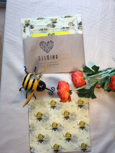 Beekind Set of Four Wraps (1 Large, 2 medium, 1 Small)