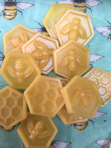 Beeswax melting coins