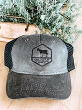 Load image into Gallery viewer, Black and Grey Trucker Hat