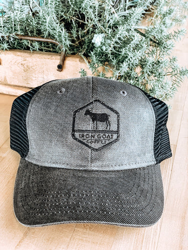 Black and Grey Trucker Hat