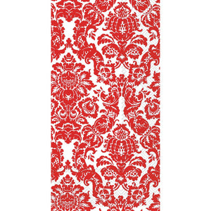 Red Damask Guest Napkins