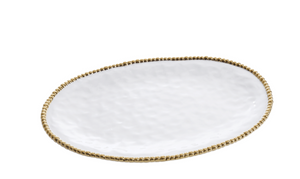Large Oval Platter Gold Dot