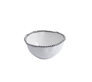 Small Bowl Silver Dot