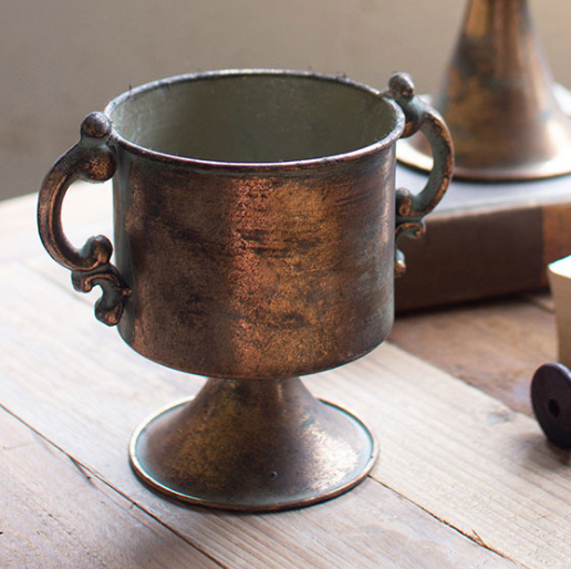 Copper Urn Small w/Handles