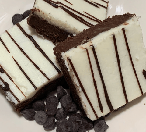 Keto Frosted Fudge Brownie
