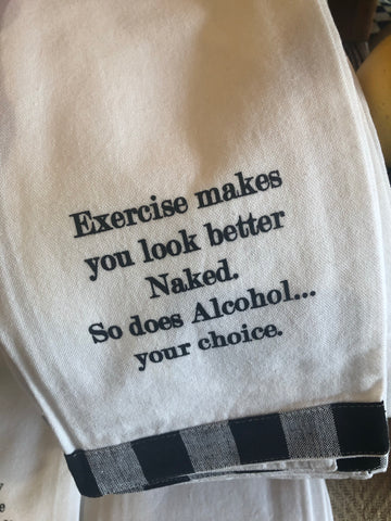 Exercise makes you look better naked...