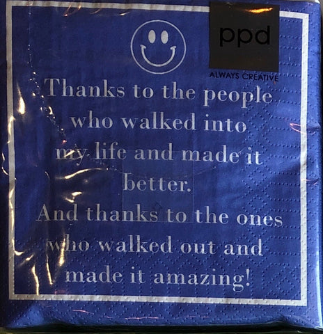 Thanks to the people...Beverage/Cocktail Napkins
