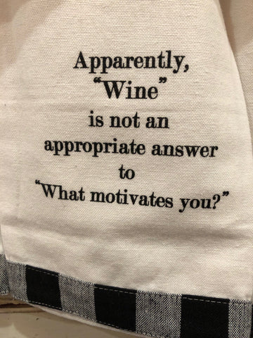 Apparently wine is not an appropriate...