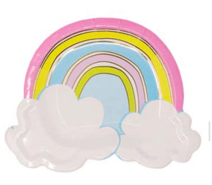 Rainbow With Cloud Plate