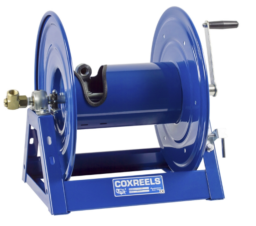 1125-4-200 : Coxreels 1125-4-200 Hand Crank Hose Reel: 1/2-inch I.D., 200' hose capacity, without hose, 3000 PSI