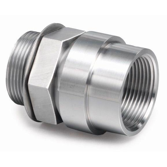 "32NPT-32SAE : AFP SAE Thread to Tank Coupling, Steel, Straight, 2"" MaleSAE Side 1, 2"" Tank Coupling Side 2, 400psi rated"