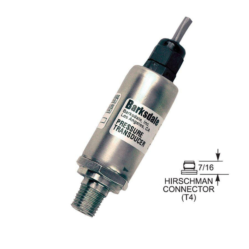 "420-T4-13 : Barksdale Industrial Transducer, Unamplified, 0 to 3000psi, 1/4"" MNPT, M12"