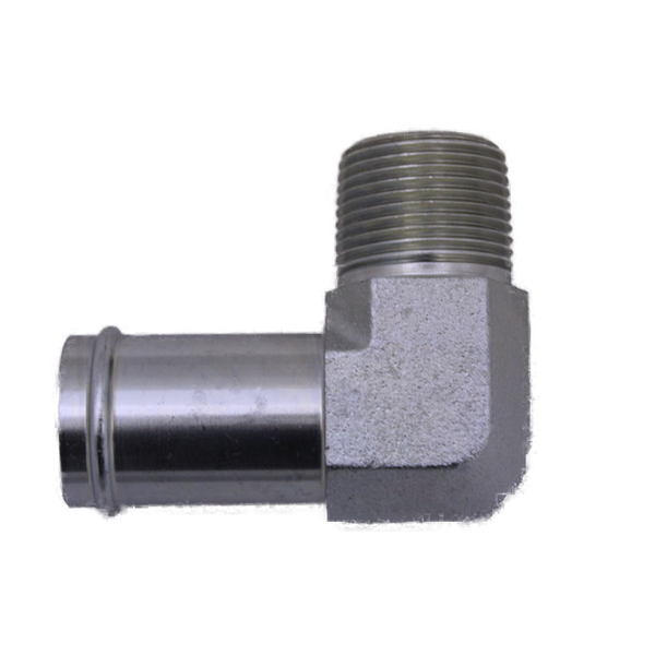 "4501-16-12-FG-OHI : OHI Adapter, 1 Hose Barb - 0.75 (3/4"") Male NPT 90-Degree Elbow Forged"