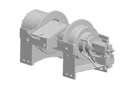"50CBT4L3B : DP Winch, 50,000lb Bare Drum Pull, Wrecker Type Custom Mount with Air Cable Hold Down, Air/Hyd Kickout, CCW, 12VDC 2-Speed, Less than 25GPM Motor, 7.5"" Barrel x 14.00"" Length x 16.5"" Flange"