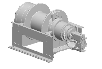 "65AUX4L9D : DP Winch, 65,000lb Bare Drum Pull, 33"" Base Underwound, Air/Hyd Kickout, CCW, 12VDC 2-Speed, Less than 25GPM Motor, Smooth 12"" Barrel x 13.63"" Length x 21.00"" Flange"