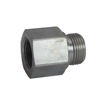"7042-08-08-OHI : OHI Straight Adapter, 0.5 (1/2"") Female NPT x 0.5 (1/2"") Male BSPP, Steel"