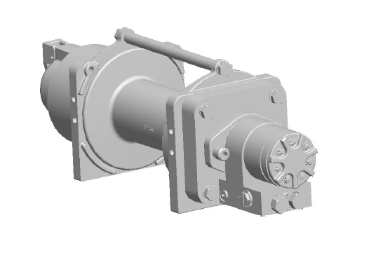 "8GNAXX5L1C : DP Winch, 8,000lb Bare Drum Pull, Standard Drum, Manual Kickout/Spring Engage, CCW, Less than 5GPM Motor, 3.63"" Barrel x 7.88"" Length x 7.19"" Flange"