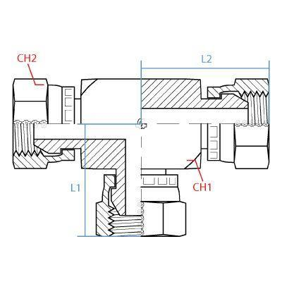 "9085-24-24-24 : ADAPTALL TEE ADAPTER, SIDE 1: FEMALE 1.5 (1-1/2"") BSPP; SIDE 2: FEMALE 1.5 (1-1/2"") BSPP; SIDE 3: FEMALE 1.5"" BSPP, CARBON STEEL"