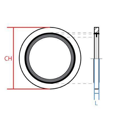 9500-06MM : BONDED SEAL FOR METRIC THREAD, 6mm, Carbon Steel