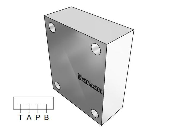 AD03CPP : Daman Cover (Blanking) Plate, Aluminum, 3000psi, D03 (NG6), Parallel Circuit, All Ports Blocked
