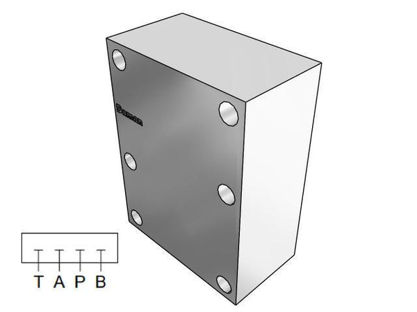AD08CPP : Daman Cover (Blanking) Plate, Aluminum, 3000psi, D08 (NG25), Parallel Circuit, All Ports Blocked
