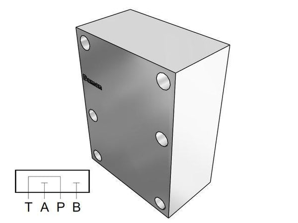 AD08CPS : Daman Cover (Blanking) Plate, Aluminum, 3000psi, D08 (NG25), Series Circuit, P to T, A&B Blocked