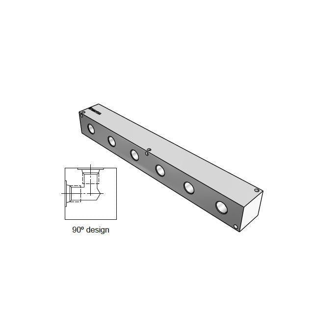 AJ0900608S : Daman Junction Manifold, 90 Degree , Aluminum, Six Station,