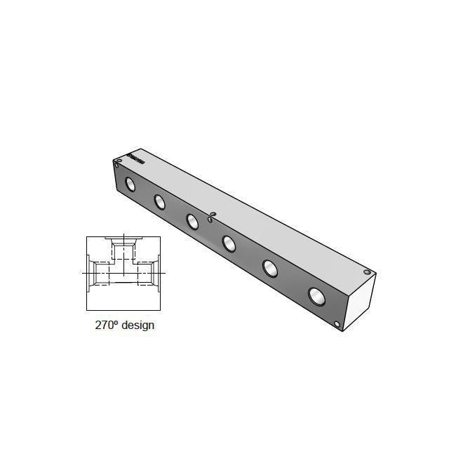 AJ2700606S : Daman Junction Manifold, 270 Degree , Aluminum, Six Station,