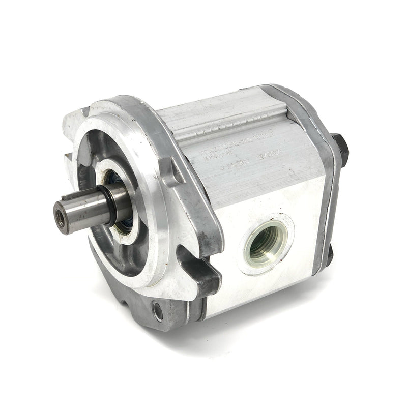 "ALP2A-D-6 : Marzocchi Gear Pump, CW, 4.5cc (0.2745in3), 2.14 GPM, 3625psi, 4000 RPM, #12 SAE (3/4"") In, #10 SAE (5/8"") Out, Keyed Shaft 5/8"" Bore x 5/32"" Key, SAE A 2-Bolt Mount"