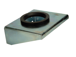 STA-BRK-ASSY-004 : Stauff Base Bracket with Rubber Ring, 120mm Opening