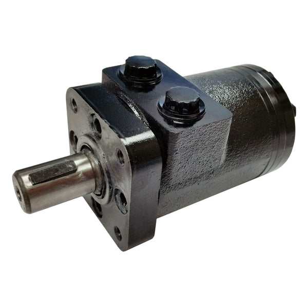 "BMPH-250-H4-K-P : Dynamic LSHT Motor, 240cc, 250RPM, 3363in-lb, 2031psi Differential, 15.85GPM, SAE A 4-Bolt Mount, 1"" Bore x 1/4"" Key Shaft, Side Ported, 1/2"" NPT"