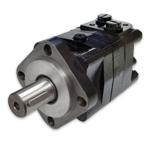 "BMSY-400-E4-G-S : Dynamic LSHT Motor, 394cc, 185RPM, 7786in-lb, 2320psi Differential, 19.81GPM, SAE A 4-Bolt Mount, 1.25"" Bore x 5/16"" Key Shaft, Side Ported, #10 SAE (5/8"")"