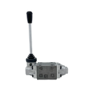DMA-G01-C5-E20 : Nachi Manual Lever Valve, 4-Way, D03 (NG6), 10.5GPM, 5075psi, All Ports Blocked Neutral, Spring Centered